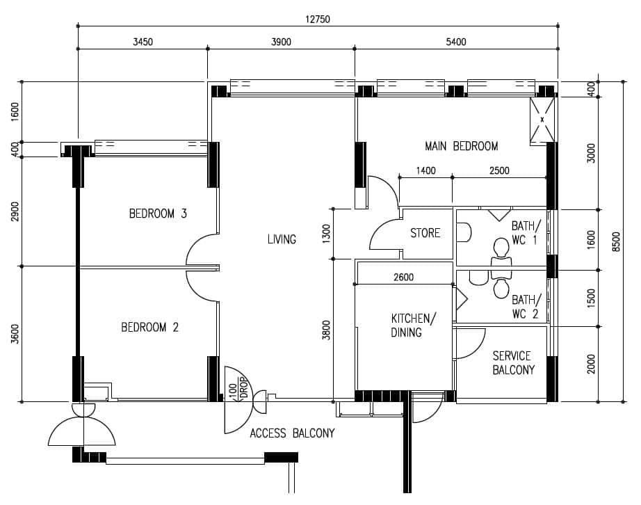 Photo : Casa Clementi Floor Plan Images. 15 Stunning HDB Homes That ...