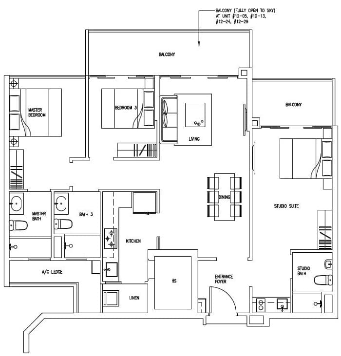 3 bedroom dual key floor plan – home ideas decor