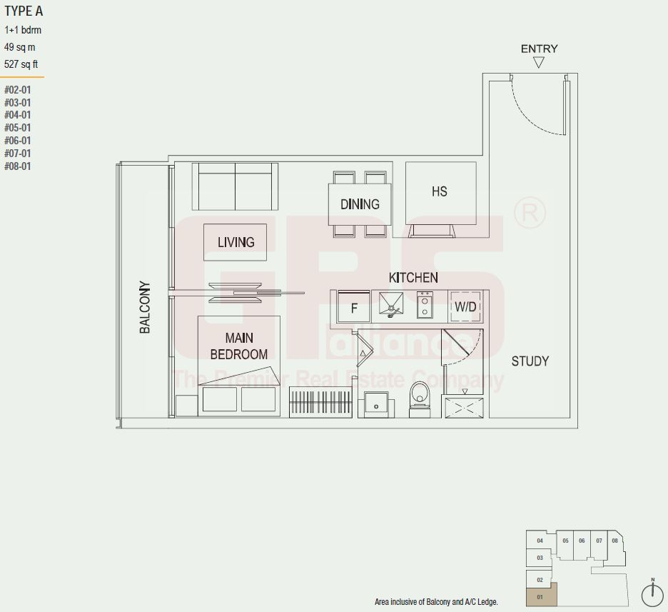 The octet floor plan singapore private condo for sale for 527 plan