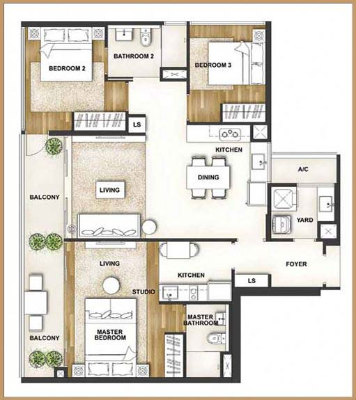 Eight courtyards floor plan singapore private condo for sale for Multi family house plans with courtyard