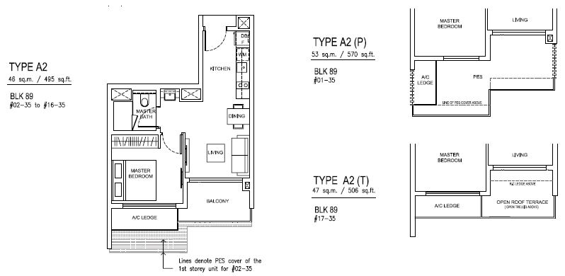Jewel at buangkok floor plan singapore private condo for for 1 bedroom condo floor plans