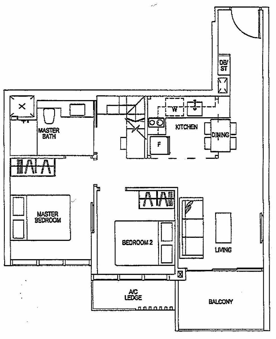 Sims urban oasis floor plan singapore private condo for sale for Urban loft floor plan