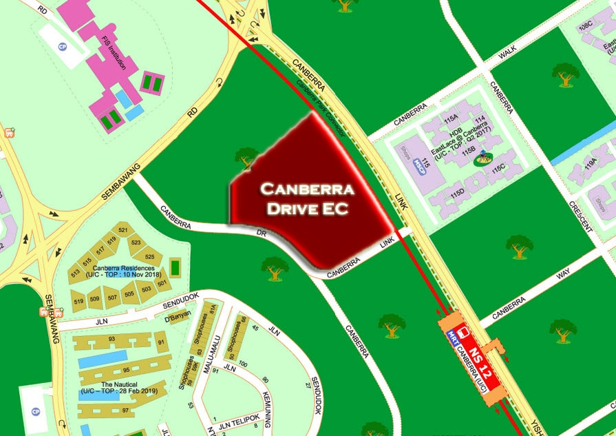The Brownstone Canberra Drive EC Location Map