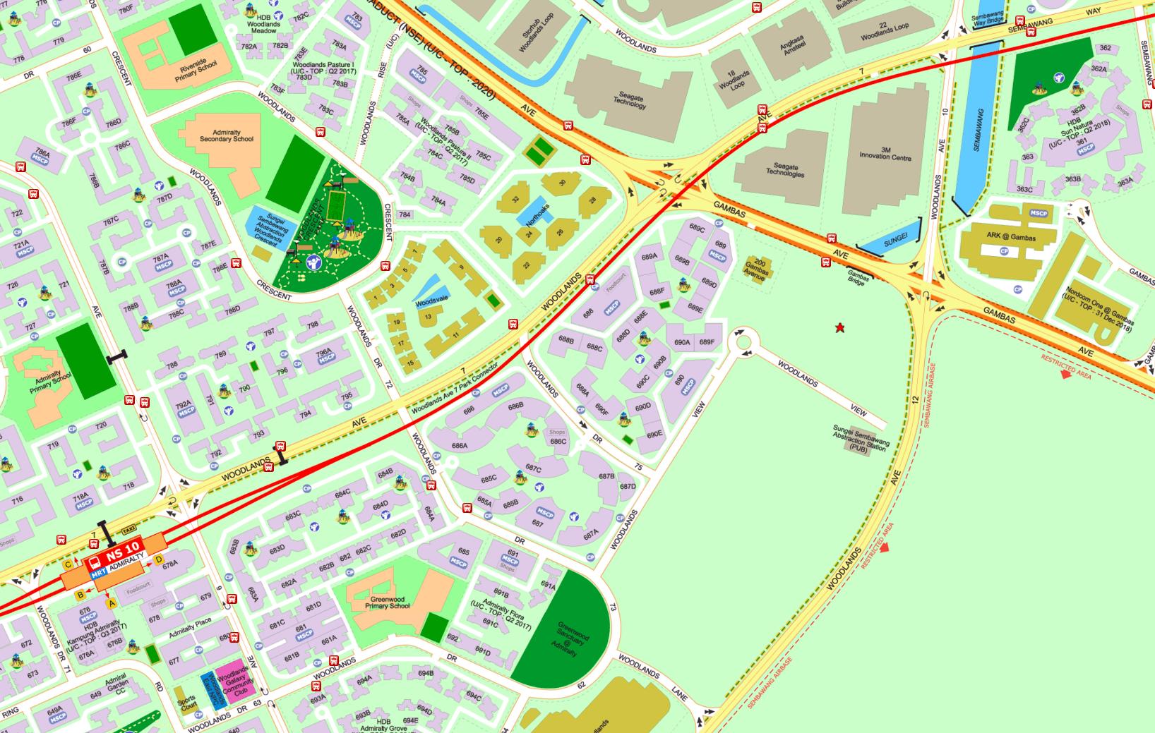 Northwave EC - Street Directory Map
