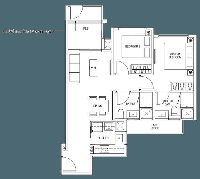 The Brownstone EC - 2 Bedroom A1p 70 sqm 753 sqft