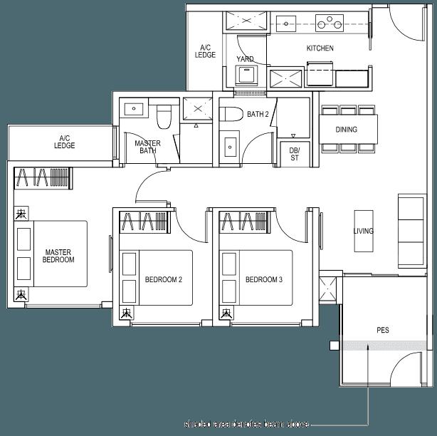 The Brownstone EC - 3 Bedroom B4p 85 sqm 915 sqft