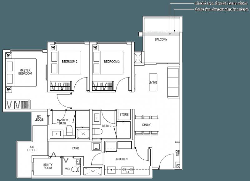 The Brownstone EC - 3 Bedroom Premium B5b 92 sqm 990 sqft