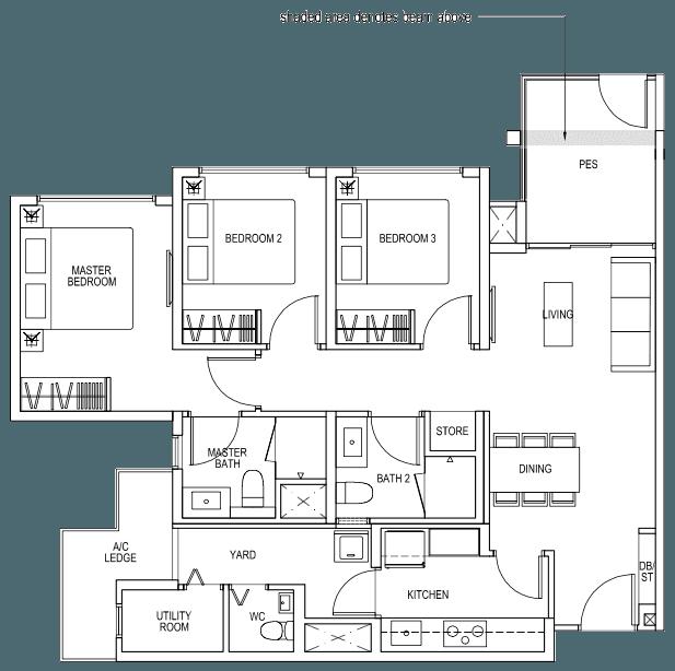 The Brownstone EC - 3 Bedroom Premium B5p 92 sqm 990 sqft