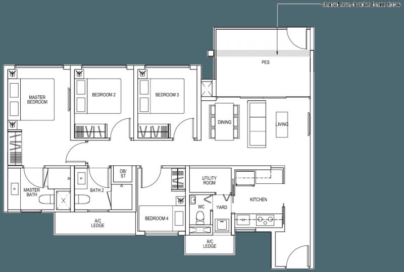 The Brownstone EC - 4 Bedroom C2p 103 sqm 1109 sqft
