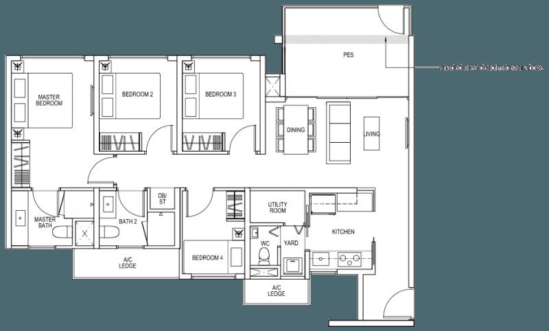The Brownstone EC - 4 Bedroom C3p 103 sqm 1109 sqft