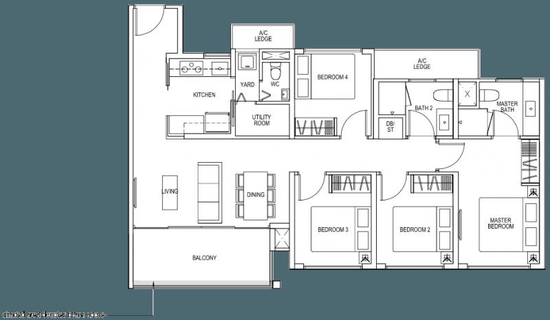 The Brownstone EC - 4 Bedroom C5b 102 sqm 1098 sqft