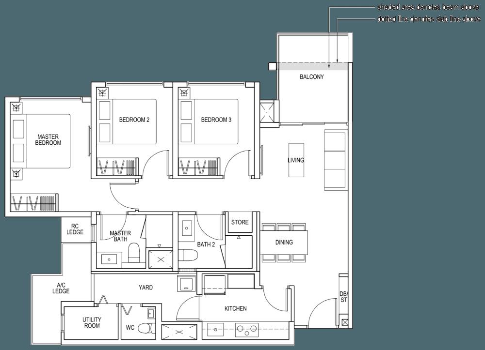 The Brownstone Showflat - Show Unit - 3 Bedroom Premium B5b - 92 sqm 990 sqft