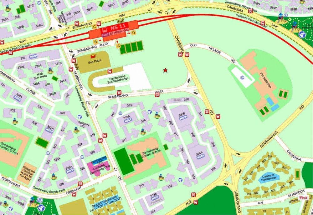 The Brownstone EC Showflat Location