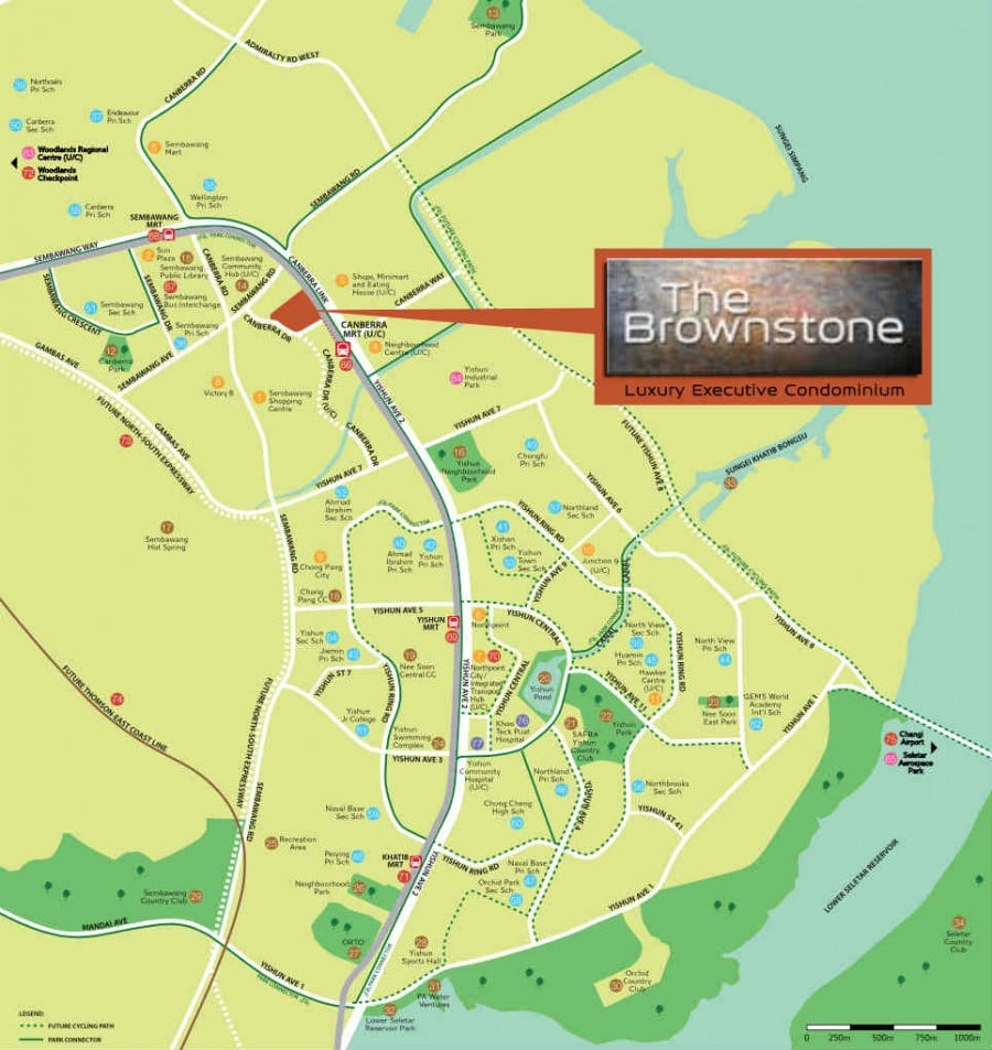 The Brownstone Canberra Drive Location Map