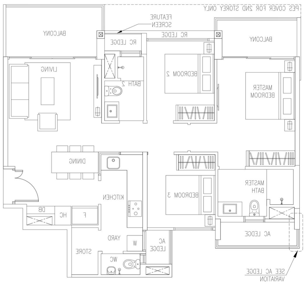 The Visioniare EC Showroom Unit 3 Bedroom Premium C6 95 sqm 1023 sqft