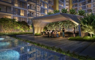 Westwood Residences EC - Dining Pavilion with Hot Plate & Grill
