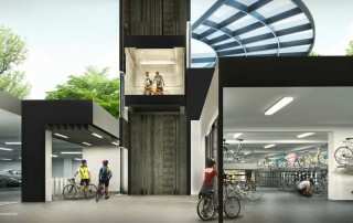 Westwood Residences EC - Secured Covered Bike Garage (Cross Section)