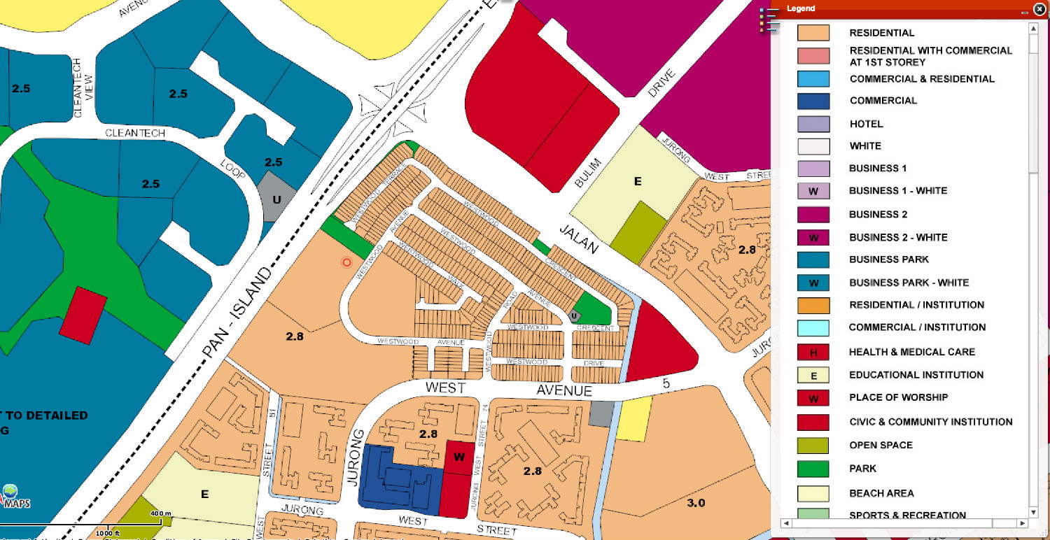 Westwood Residences EC URA Map